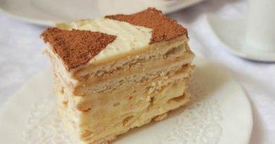 Быстрый торт из печенья к чаю