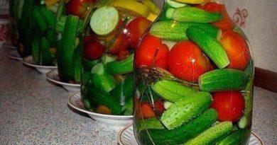 Овощное ассорти с водкой без стерилизации