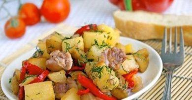 Готовим овощное рагу с курицей
