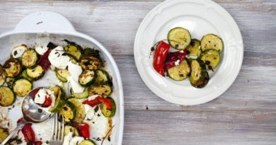 Кабачки по-гречески на сковороде