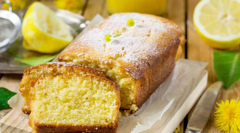 Кекс с лимонной заливкой