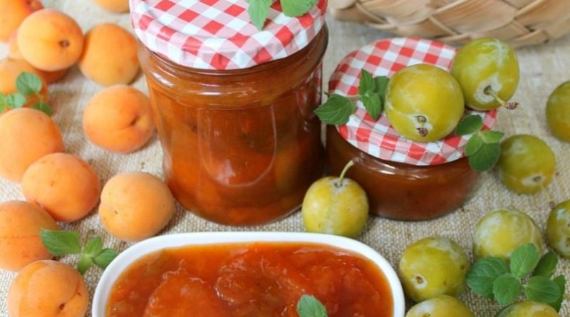 Варенье из абрикосов и слив