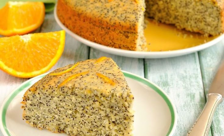 Нежный апельсиново-маковый торт