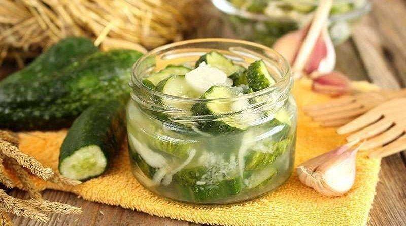 Вкусный салат из огурцов