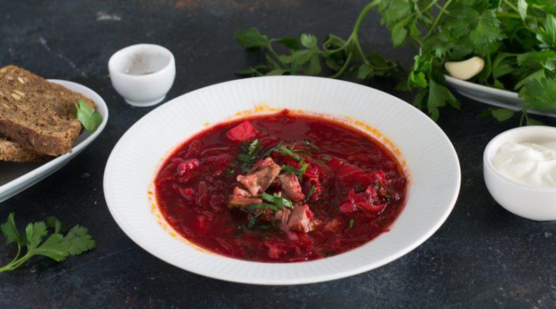 Борщ с мясом, классический рецепт