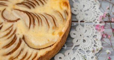Песочный пирог с грушей.