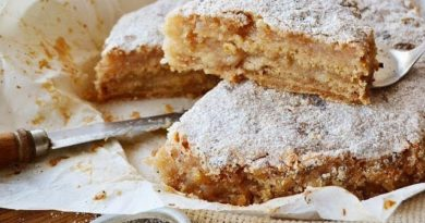 Насыпной яблочный пирог, всего 138 ккал!