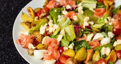 Финский салат с лососем