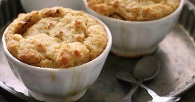 Творожное суфле с яблоками за 15 минут