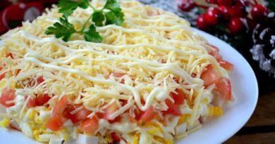 Вкуснейший салатик с крабовыми палочками