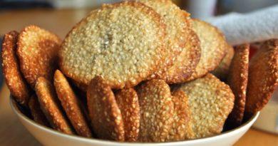 Вкусное кунжутное печенье