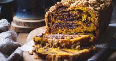 Тыквенный пирог с шоколадной начинкой