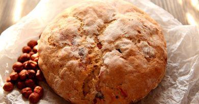 Хлеб с орехами и сухофруктами