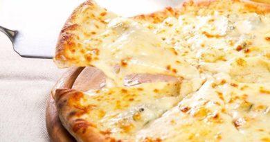 Творожно - сырная пицца . Пальчики оближешь