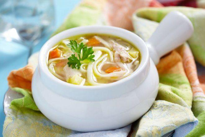 Куриный суп с лапшой и картофелем в мультиварке