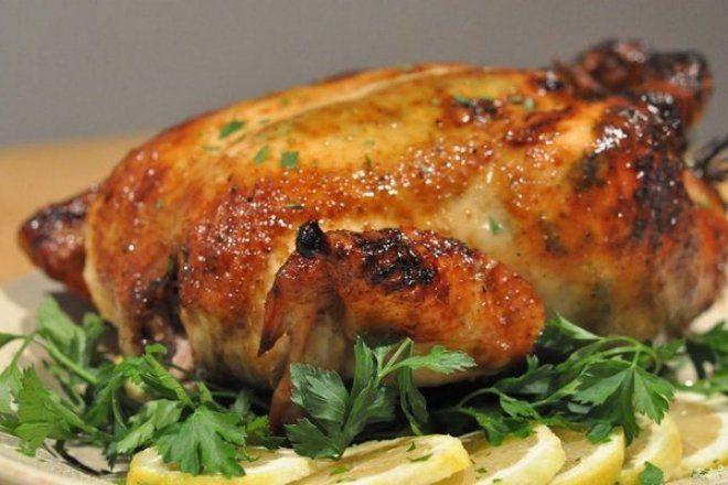 Сочный цыпленок в духовке