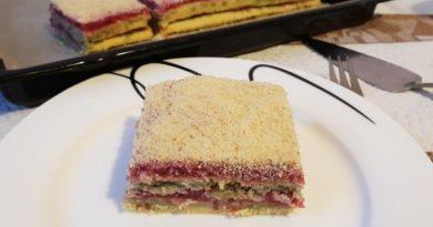 Песочный пирог с начинкой