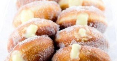 Заварные пончики с заварным лимонным кремом