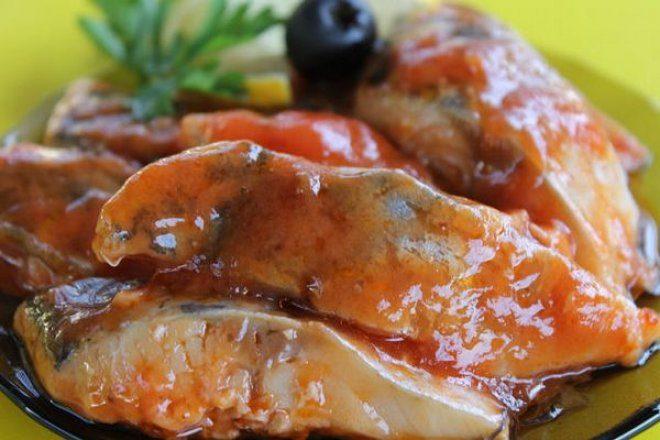Маринованная рыба в томатном соусе
