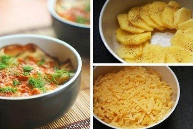 Сливочный картофель,запеченный в духовке